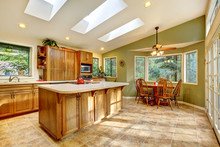 Large Country Kitchen With Sky...