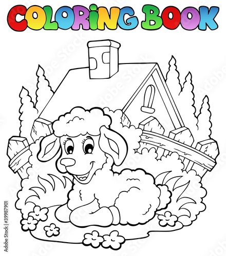 Spoed Foto op Canvas Doe het zelf Coloring book spring theme 1