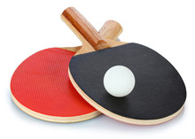 Ping-pong Rackets And Ball, Is...