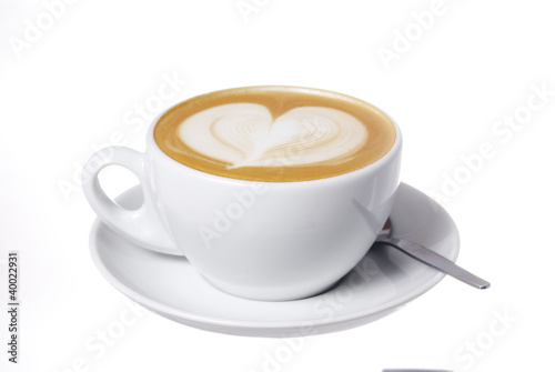 Fotomural Latte Cup with Heart Design.