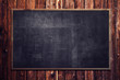 canvas print picture - Blackboard on wooden Wall
