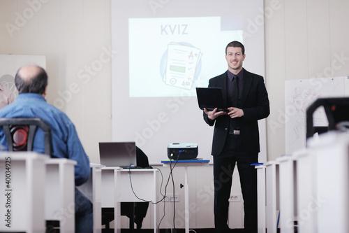 Fototapety, obrazy: business man on seminar