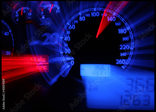 Photo  Abstract car console  - tachometer