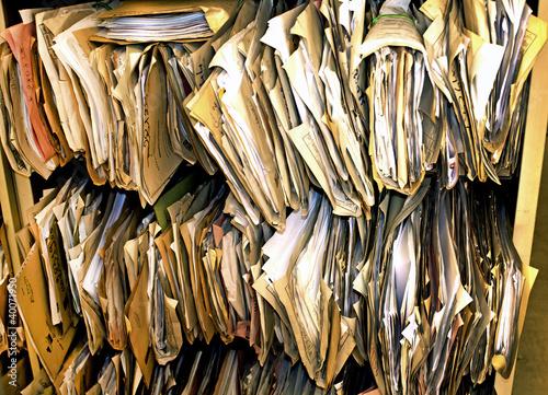 Fototapeta bureaucracy overflowing obraz
