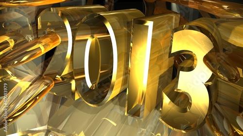 Foto op Aluminium Arctica 2013 year number