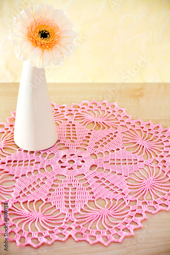 Fotografia, Obraz  Crocheted doily.