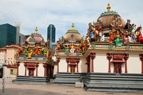 Photo sur Aluminium Monument Hinduistic temple Shri-Mariamman. Chinatown, Singapore