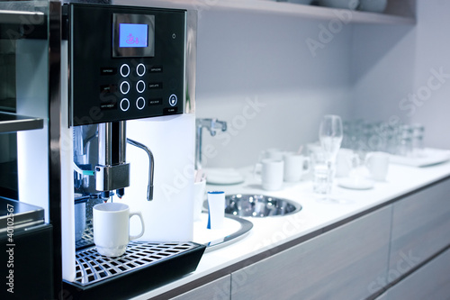 Canvastavla Coffee machine