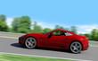 roter schneller sportwagen