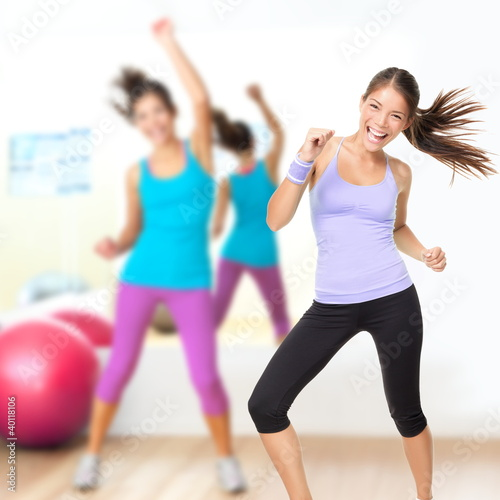 Fitness dance studio zumba class