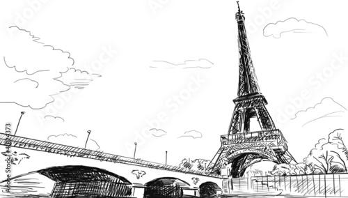 paryskie-ulice-ilustracja-wieza-eiffla