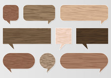 Natural Wood Texture Speech Bu...