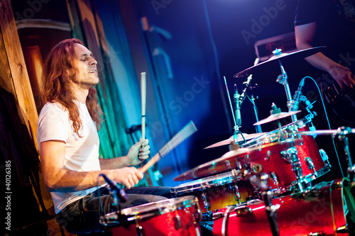 Canvas Print playing drums