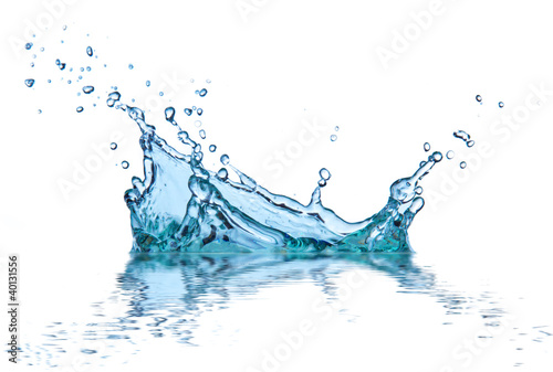 Deurstickers Water water splash, isolated on white background