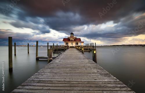 Garden Poster Lighthouse Roanoke Marshes Lighthouse Manteo Harbor Outer Banks NC