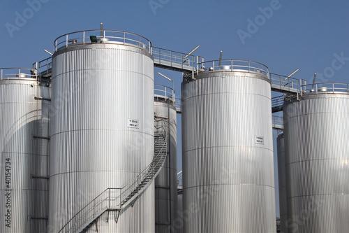 Photo  Tall storage tanks