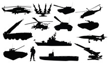 High Detailed Soviet (russian) Military Silhouettes