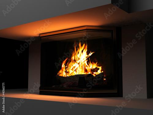 Fotomural fireplace