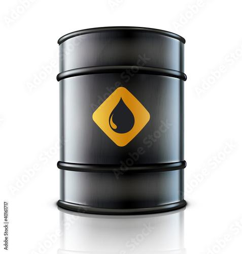 Metal oil barrel Fototapete
