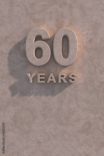 Fotografia  60 years 3d text