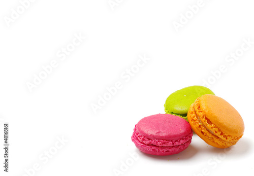Photographie  Trois macarons
