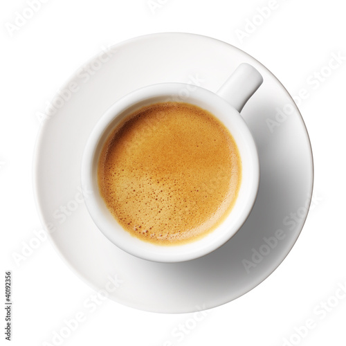 Fotografia  coffee cup on white background