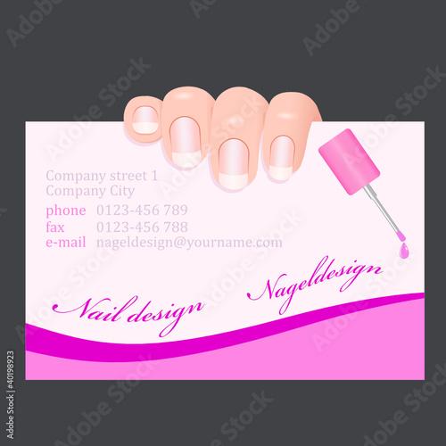Visitenkarte Mit Finger Nageldesign Kaufen Sie Diese