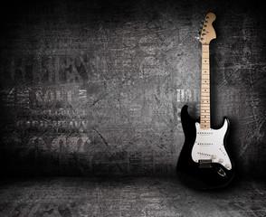 Električna gitara i zid
