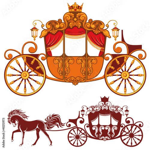 Leinwand Poster Royal carriage