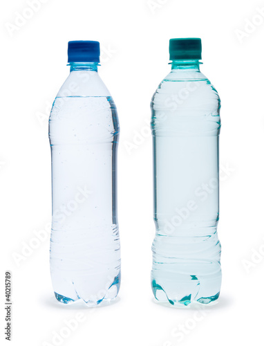 Foto op Canvas Water Polycarbonate plastic bottles of mineral water