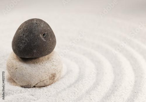 Foto op Plexiglas Stenen in het Zand pierre zen calme