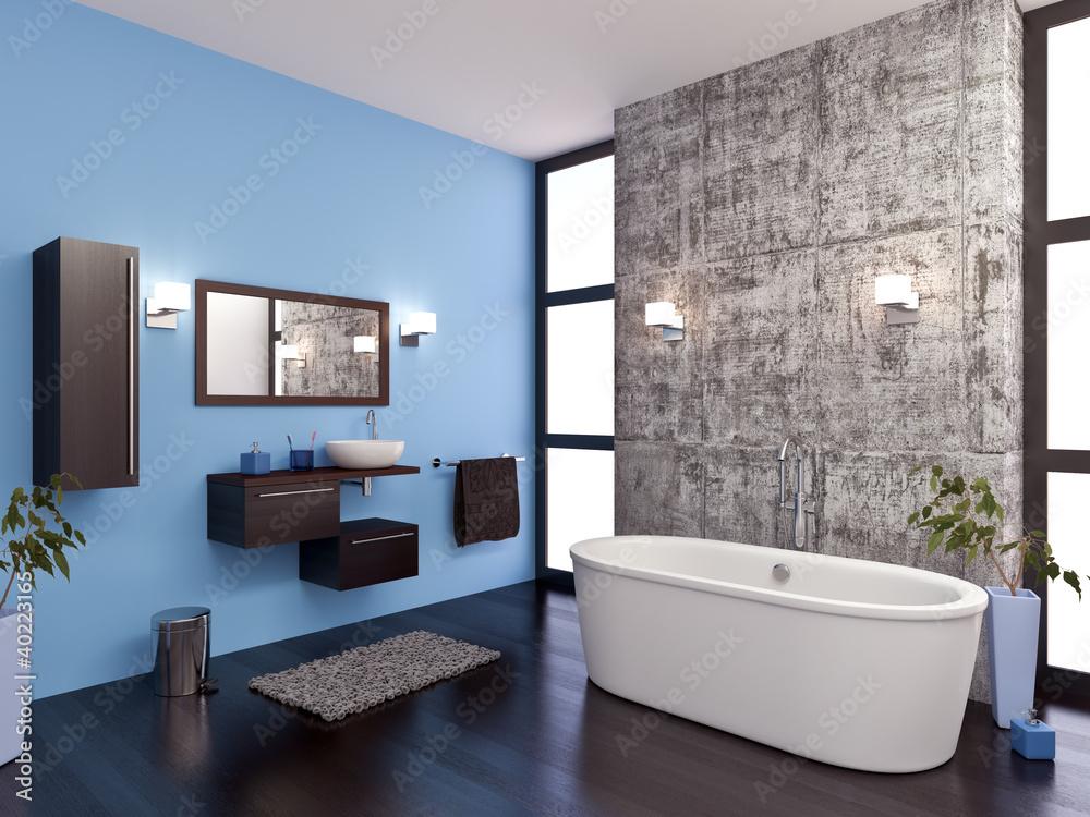 Salle de bain design 1 Foto, Poster, Wandbilder bei EuroPosters