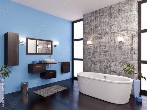 Salle de bain design 1 Canvas Print