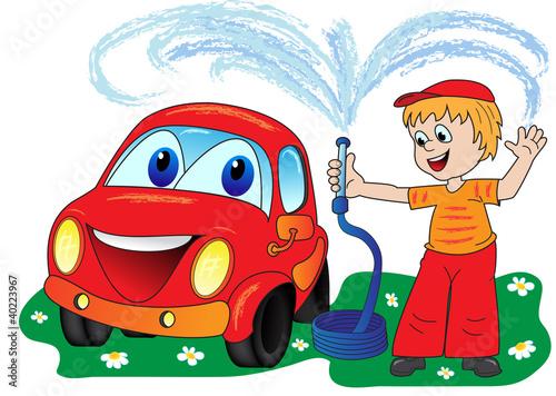 Foto op Canvas Cars Car wash