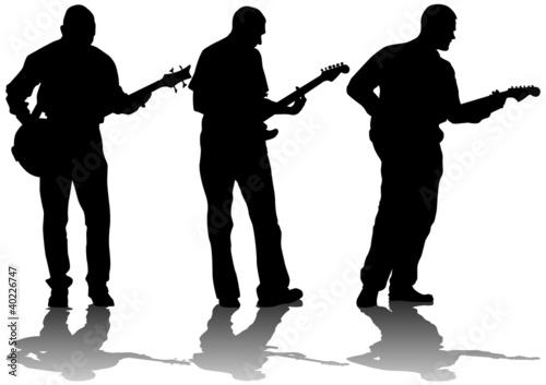 Poster Militaire Guitarist mans