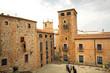 Palacio de ciudad antigua de Cáceres, España