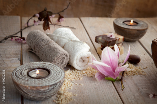 Foto op Canvas Spa Natural spa setting