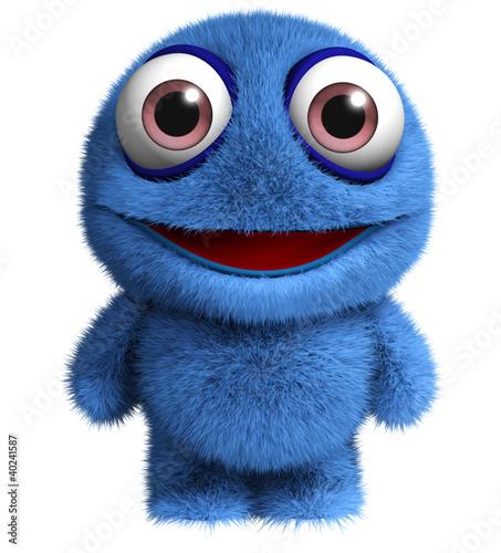 Keuken foto achterwand Sweet Monsters blue bigfoot