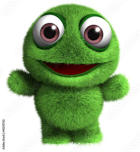 Poster de jardin Doux monstres cartoon monster