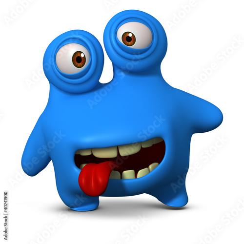 Keuken foto achterwand Sweet Monsters crazy blue monster