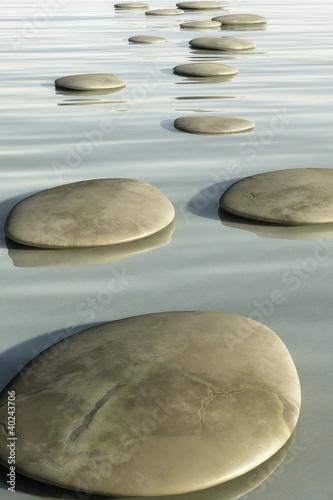 Naklejka na szybę Kamienna ścieżka na wodzie