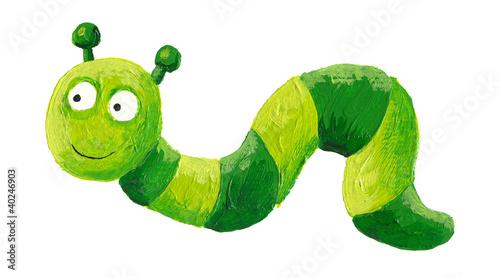 zabawny-zielony-robak-indeksowania