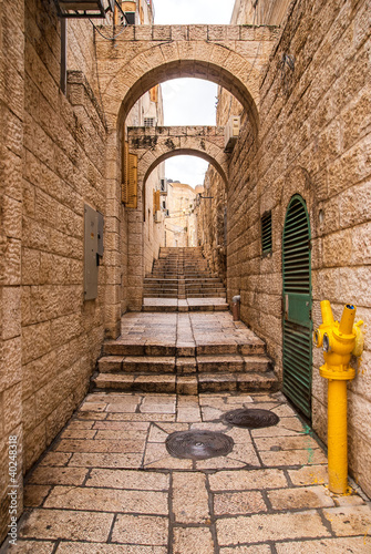 An alley in the old city in Jerusalem