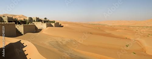 Blockhouse in the desert Wallpaper Mural