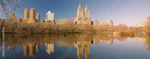 Stampa su Tela Central Park Lake, NY