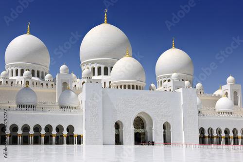 In de dag Abu Dhabi Sheikh Zayed Bin Sultan Al Nahyan Mosque, Abu Dhabi