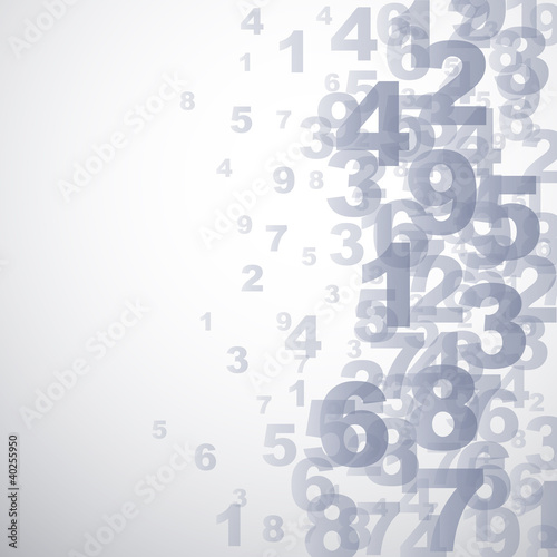 Canvas Print Abstract numbers background  # Vector