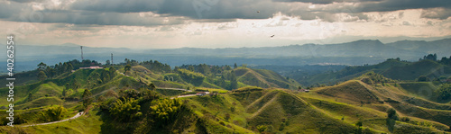 Canvas Prints South America Country Panorama in the coffee triangle region of Colombia
