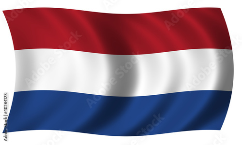 Canvas Print flag of Netherlands in wave