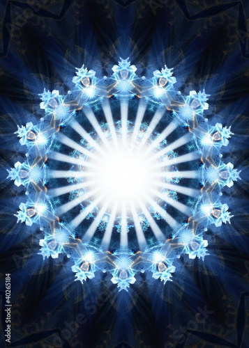 Doppelrollo mit Motiv - Light in the heart of darkness
